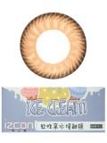 izcon(伊厶康)冰淇淋三色棕半年抛彩色隐形眼镜
