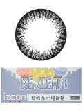 izcon(伊厶康)冰淇淋可爱黑半年抛彩色隐形眼镜