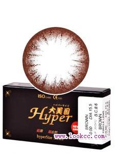 大美目精灵巧克力棕彩色隐形眼镜-平铺直径15.5mm