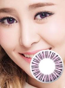 新品-[芭比爱]米欧米缇娜甜美粉pink彩色隐形眼镜(平面展开直径15.8mm)-P09