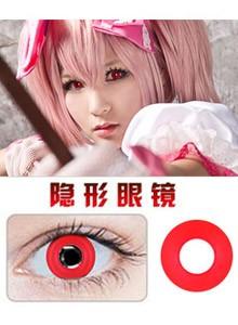 红色写轮眼美瞳隐形眼镜-Cosplay美瞳专用076