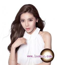 G&G POP-C 브라운美人棕硅水凝胶美瞳 브라운-韩国OLENS直购