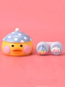 凯达玻尿酸鸭隐形眼镜伴侣盒蓝帽子鸭-k1806