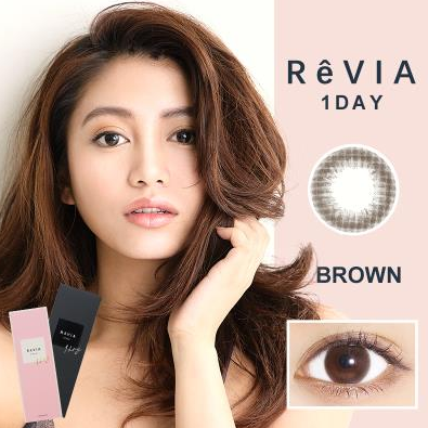 ReVIA蕾美日抛彩色隐形眼镜10片装Brown自然棕