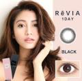 ReVIA蕾美日抛彩色隐形眼镜10片装Black自然黑