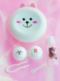 韩国line可妮兔布朗熊可爱隐形眼镜伴侣盒-款式随机发