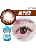 韩国GEO星光系列年抛彩色隐形眼镜1片装(14.5mm)星光棕