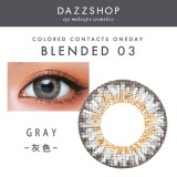 DAZZSHOP混血系列BLENDED 年抛彩色隐形眼镜1片装B03 灰色