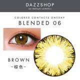 DAZZSHOP混血系列BLENDED 年抛彩色隐形眼镜1片装B06 棕色